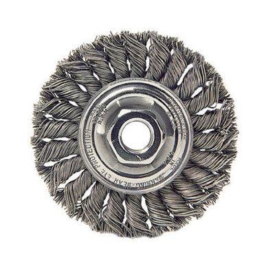 Weiler Dualife Standard Twist Knot Wire Wheels - st-7 .014 1/2-5/87in dia sta