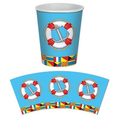 Beistle 58211 Nautical Beverage Cups - Pack of 12