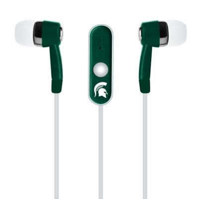 Cell Armor Licensed NCAA Earbuds. Michigan Spartans