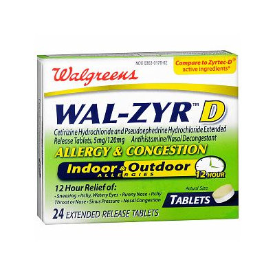 Walgreens Wal-Zyr D 12 Hour Tablets