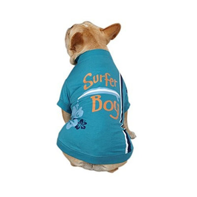 Casual Canine Polyester/Cotton Surf's Up Dog Tee, Suffer Boy, Small/Medium, 14-Inch