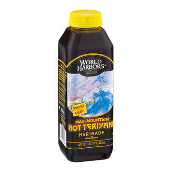 World Harbors Marinade and Sauce Maui Mountain Hot Teriyaki