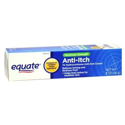 Equate Max/ Strength 1% Hydrocortisone Anti-Itch Cream 2 oz