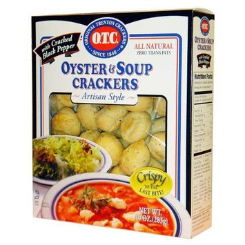 OTC Oyster Crackers with Cracked Pepper, 10-Ounce Boxes (Pack of 12)