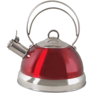 Gibson Overseas Incorporated Gibson 1.8-Liter Whistling Tea Kettle, Red