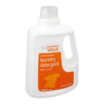 Guaranteed Value Laundry Detergent Free & Clear Concentrated