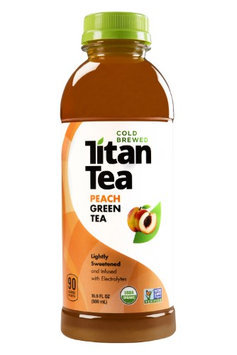 Titan Tea TEA, GREEN, PEACH, (Pack of 12)