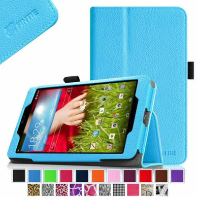Fintie LG G Pad 8.0 Android Tablet Folio Case - Premium Leather Cover Stand With Stylus Holder, Blue