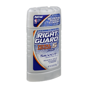 Right Guard Total Defense 5 Silver Matrix Invisible Solid Anti-Perspirant & Deodorant
