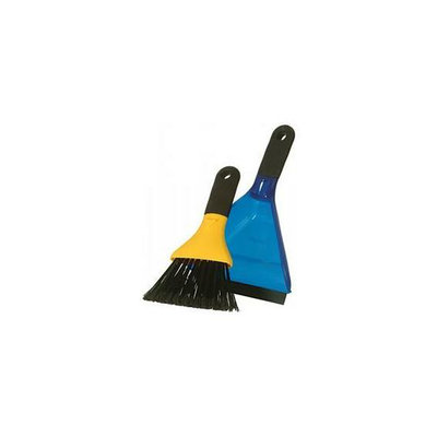 Casabella 56359 Small 8-1/2''H x 6''W Dustpan Set - Blue and Yellow