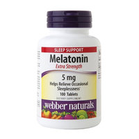 Webber Naturals Melatonin 5mg, Tablets, 100 ea