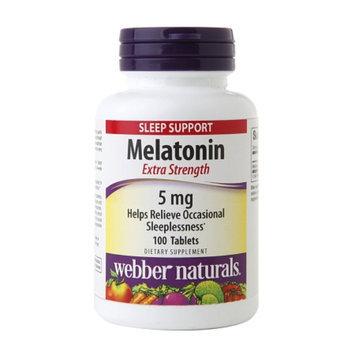 Webber Naturals Melatonin 5mg, Tablets, 100 ea