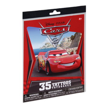 Disney Pixar Cars Tattoos Tatouages- 35 PK