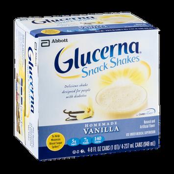 Glucerna Snack Shakes Homemade Vanilla - 4 CT