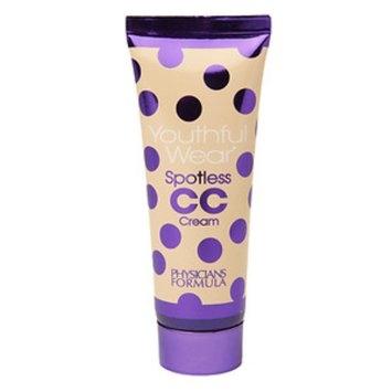 Physicians Formula Youthful Wear Cosmeceutical Youth-Boosting Spotless CC Cream, Light, 1.2 fl oz
