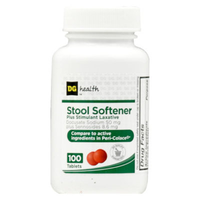 DG Health Stool Softener Plus Stimulant Laxative, 100 ct