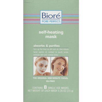 Bioré Self-Heating Mask Absorbs & Purifies The Original One - Minute Facial Oil