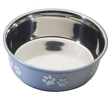 Ethical Pet Products (Spot) DSO6125 64-Ounce Fusion Designer Stainless Steel Dog Bowl, Large, Blue