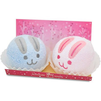 Couture Towel CT-GS15000028 13 x 14 x 2 in. Mochi Bunny Duo Towel Love is in The Air