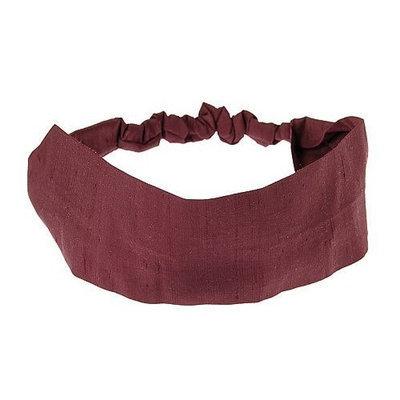 L. Erickson USA Wide Headband with Elastic - Silk Dupioni Black