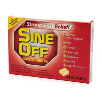 Sine Off Sinus/Cold Medicine