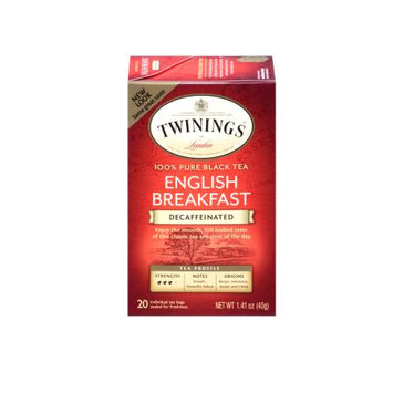TWININGS® OF London Decaffeinated English Breakfast Tea Bags
