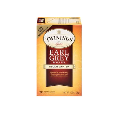 TWININGS® OF London Decaffeinated Earl Grey Tea Bags