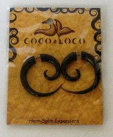 Horn Split Expanders Large Black Coco Loco 1 Earring