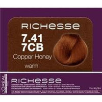 L'Oréal Professionnel Richesse Ammonia-Free Conditioning Creme Color 7.41 (7CB Copper Honey)