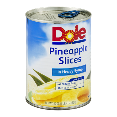 Dole Pineapple Slices Heavy Syrup