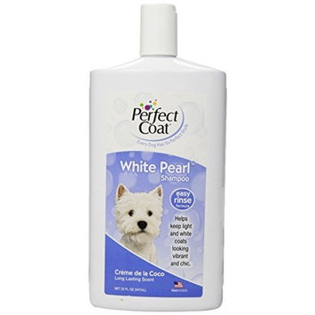 8 in 1 Perfect Coat White Pearl Shampoo for Dogs, 32 Ounce Bottle, Coconut Scent