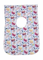 Greatlookz Fashion Greatlookz Child Connoisseur Cotton Printed Baby Bib, Macaroons and Stripes