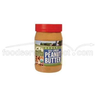 WODSTK Woodstock Farms Organic Easy Spread Crunchy Peanut Butter, 18 Ounce -- 12 per case.