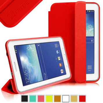 Fintie Omni Case Cover Slim Lightweight All-around Protection Stand for Samsung Galaxy Tab 3 Lite 7.0 Tablet, Red