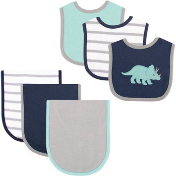 Hudson Baby Dinosaur Bib and Burp Cloth, 6pk
