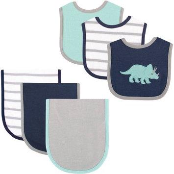 Hudson Baby Dinosaur Bib and Burp Cloth, 6pk