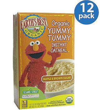 Earth's Best Yummy Tummy Maple & Brown Sugar Instant Oatmeal