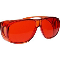 Biowaves 10 Colors Available - Fit Over Style Color Therapy Glasses, Poker Sunglasses - Red, Orange, Yellow, Green, Aqua, Blue, Indigo, Violet, Magenta, Pink - Fits Over Prescription Glasses