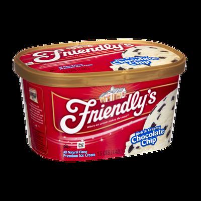 Friendly's Rich & Creamy Chocolate Chip Premium Ice Cream