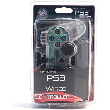 Arsenal Gaming PS3 Wired Controller, Clear with Lights