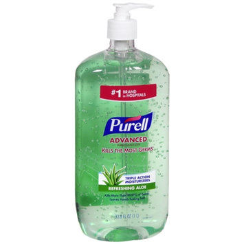 Purell Advanced Hand Sanitizer, Pump, Aloe, 33.8 oz