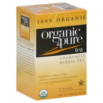 Organic & Pure Organic and Pure Chamomile Herbal Tea, - Pack of 6