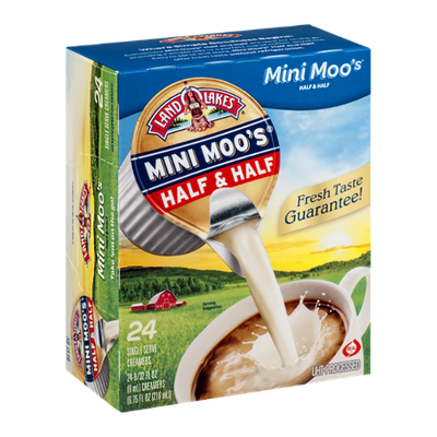Land O'Lakes Mini Moo's Half & Half Singles - 24 CT