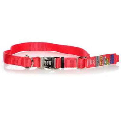 Coastal Pet Products Nylon Adjustable Spectra Collar w/Metal Buckle [Options : 1 - Red]