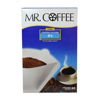 Mr. Coffee #4 Cone Filter Coffee Filters, White Paper, 40-Count Boxes (Pack of 12)