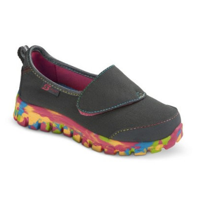 S SPORT BY SKECHERS Toddler Girl's Gray Slip on Sneaker