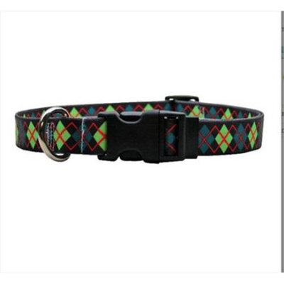 Yellow Dog Design GA101S Green Argyle Standard Collar - Small