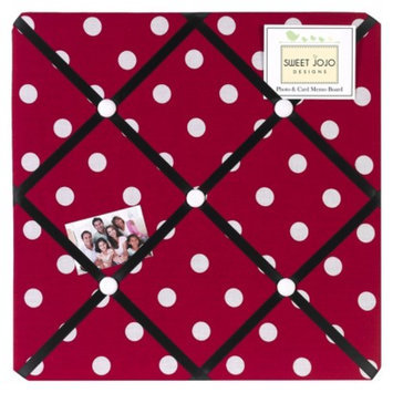Sweet JoJo Designs Polka Dot Ladybug Photo Memo Board - Red, Black,