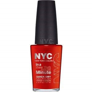 New York Color Nail Polish, Quick Dry, with Minerals, Spring Street 221B1, 0.33 fl oz (9.9 ml) Reds