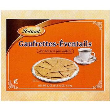 Roland Gaufrettes-Eventails 45 Degree Dessert Fan Wafers, 60 oz, (Pack of 4)